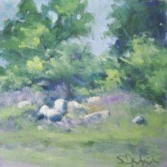 Susan Jenkins Oil Painting, Birds and Landscape