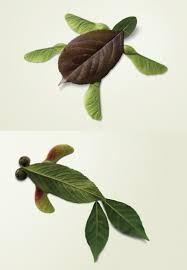 Resultado de imagen de manualidades con hojas