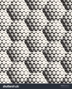 Vector seamless pattern. Modern stylish texture. Repeating tiles from small triangles. Monochrome halftone grid with different sized triangles. Geometric hipster background