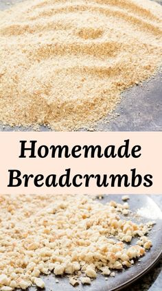 HOMEMADE BREADCRUMBS - Learn how to make breadcrumbs using your favorite breads. Stale bread is transformed into the best breadcrumbs ever. You'll never buy them again! Substitute For Bread Crumbs, Bread Recipes, Cooking Recipes, Cooking Tips, How To Make Breadcrumbs, Stale Bread, Sourdough Bread, Bread Alternatives, Cooking For Beginners