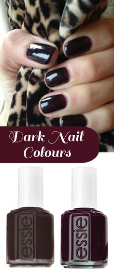 LOVE dark nails for winter