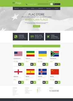 Flags store Responsive