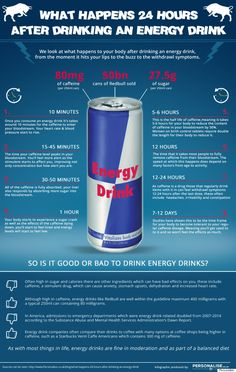 Red Bull Infographic: Energy Drink Gets The This Is What Happens To Your Body Treatment