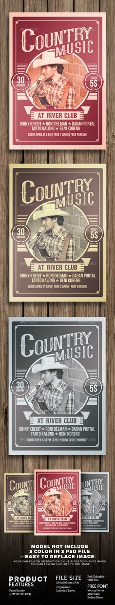 Country Music Festival  Psd Templates Concert Flyer And Flyer