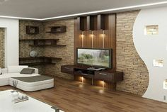 HOME DECOR: 10 Modern TV Wall Units Furnish House                                                                                                                                                                                 More