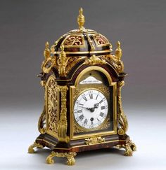 Antique Tortoise Shell Clock, circa 1740