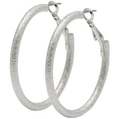 M&Co Textured Hoop Earrings ($6.26) ❤ liked on Polyvore featuring jewelry, earrings, silver, silver earrings, silver hoop earrings, m&co, silver jewelry and silver jewellery