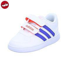 Vs Advantage Crib, Sneakers Basses Mixte Bébé, Blanc (Footwear White/Footwear White/Bold Pink), 19 EUadidas