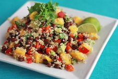 confetti quinoa salad with lime vinaigrette (gf, df, v) - one lovely life