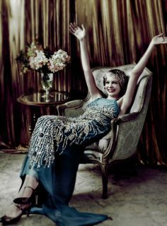 Carey Mulligan (aka The Great Gatsby's Daisy Buchanan) from the Baz Luhrman interpretation. Vogue cover.