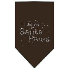 Santa Paws Rhinestone Bandana Cocoa Small