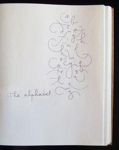 [ · a · b · c · ] von Sonia García Q . Hand Lettering Fonts, Calligraphy Handwriting, Creative Lettering, Calligraphy Letters, Typography Letters, Brush Lettering, Modern Calligraphy, Cursive, Lettering Design
