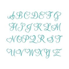 Heart Font Letters Love Monogram Cuttable Design SVG PNG DXF & eps Designs Cameo File Silhouette - Best Picture For diy face mask sewing pattern with filter For Your Taste You are looking for some - Alphabet Cursif, Tattoo Fonts Alphabet, Hand Lettering Alphabet, Alphabet Letters Design, Cute Letter Fonts, Cute Fonts To Write, Hand Lettering Fonts Free, Pretty Fonts Alphabet, A Letter