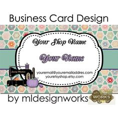 Business Card Design  Quilting Business Card  by MLDesignWorks, $15.00
