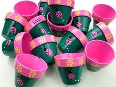 Hand Painted Flower Pot Party Favors
