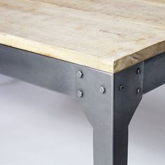 Wood and metal table with extensions - Dining Room