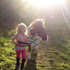 Friends: I've been waiting for you since the day I was born, said the little pony to the wee girl.