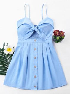Shop for Bowknot Cami Dress LIGHT BLUE: Mini Dresses S at ZAFUL. Only $18.99 and free shipping!