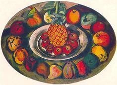 Still life with pineapples - Ilya Mashkov, 1910