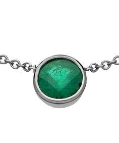 OGI Round Bezel Set Emerald Pendant Necklace Max And Chloe, Emerald Pendant, Square Rings, Green Stone, Turquoise Bracelet, Gemstone Rings, Pendant Necklace, Jewels, Gemstones