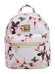 ac32e7c9f7cc Flower Floral Women s Leather Backpack Children Backpacks Fashion Ladies  Schoolbag for Teenagers Girls Female Backbag Mochila
