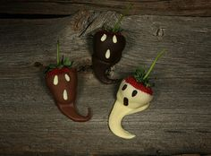 strawberry ghosts - halloween