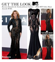 """""""Get The Look-Beyonce Knowles In Nicolas Jebran Couture – 2014 MTV Video Music Awards #VMA"""" by kusja ❤ liked on Polyvore featuring Zuhair Murad, Christian Louboutin, RedCarpet, Beyonce, VMAs, VMA and VMAs2014"""