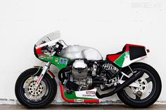 The custom scene is awash with concepts and Photoshop renders and imagined bikes. But designer Davide Caforio, who flits between Milan and Rome, has turned an inspired idea into reality. Caforio is an accomplished Moto Guzzi builder, and well known within his native Italy. He's now created a tribute to the endurance machines that fought…