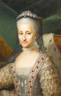 Infanta Maria Antonia Fernanda (1729-1785), Queen of Piedmont-Sardinia by Anton Mengs studio (Versailles) bodice   Grand Ladies   gogm
