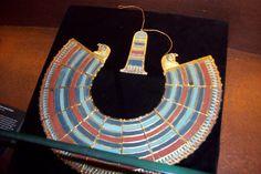 Tutankhamon s collier with turqoise corals and lapis lazuli