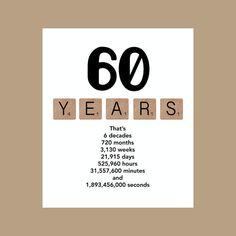 Die 60. Dekade Geburtstagskarte ist gedruckte on100lb weiße Matte Cardstock. Jede 5 x 7 Karte wird individuell bewertet, gewährleistet eine saubere Falte und kommt mit einem weißen Umschlag und wird in einer klaren Cello Hülle geliefert. Die Farben variieren leicht auf Ihrem Monitor.  Schauen Sie sich meine anderen 60. Geburtstag-Karten: https://www.etsy.com/listing/227941331 https://www.etsy.com/listing/201055452 https://www.etsy.com/lis...