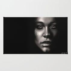 Portrait Area & Throw Rug by TawnART - $28.00