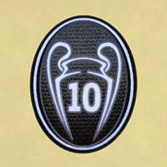 TOPPA UEFA Champions League 10 Times Trophy Patch / TOPPA Badge 2013-2014 | 3D Flock Patch