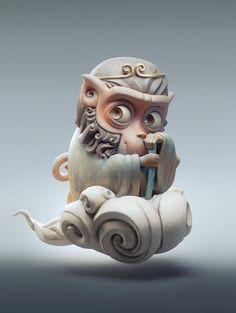 Little monkey, Xutao Ming on ArtStation at https://www.artstation.com/artwork/5Dz4J Monkey King, Monkey Art, Snow Monkey, Rey Mono, Little Monkeys, Character Modeling, Zbrush, King Tattoos, Cg Artist