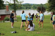 Playing spikeball at summer camp. Best time ever:)