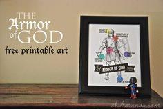 armor of god free printable art from AMEN designs & ohAmanda.com