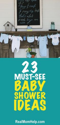 A huge collection of awesome baby shower ideas| How to throw a baby shower- check out these party tips.