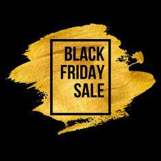 Black Friday Designs on gold blob. Vector illustration vector art illustration