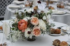 Peonies and garden roses | Floral design by Nicolette Camille
