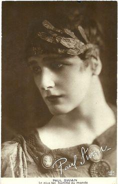 Paul Swan - c. 1920 - French Postcard - Photo by DIX, Paris - Caption: Le plus bel homme du monde (The Most Beautiful Man in the World) -