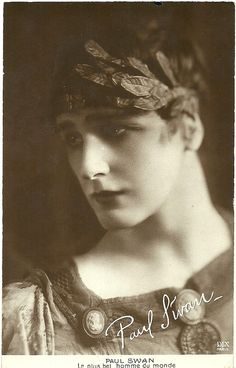 Paul Swan - c. 1920 - French Postcard - Photo by DIX, Paris - Caption: Le plus bel homme du monde (The Most Beautiful Man in the World) - @~ Mlle