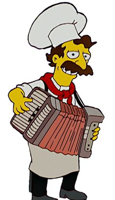 Italian Chef Simpsons Characters, Fictional Characters, Italian Chef, Bart Simpson, Zero, Board, Fantasy Characters, Planks