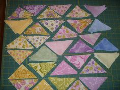 Precut Fabric Triangles Moda Little Turnover Double Set Quilt Kit DIY FREE SHIPPING