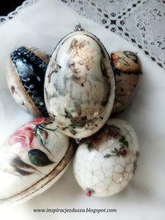 Easter eggs decoupage