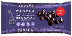 ORGANIC BITTER-SWEET DARK CHOCOLATE CHIPS - 85% CACAO