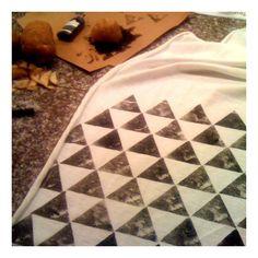 Potato print on jersey