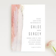 """Painted Desert"" foil-pressed wedding invitation design by Minted artist Hooray Creative. The new 2018 Minted wedding invitation collection is out and just in time for your nuptials. #weddinginvitation"