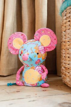 14 Free Soft Toy Sewing Patterns   Cute Characters Maybe make Melanie something for her bday with the left-over fabric?