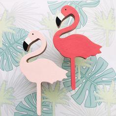 Wandhaak hout flamingo lichtroze | Kiwi en Koala via Kinderkamerstylist.nl