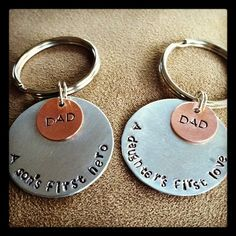 Father's Day!!!  Personalized Key Ring by CharmedbyCindi on Etsy, $10.00